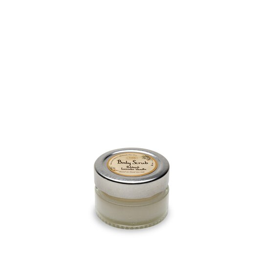 Mini Body Scrub 60g Jar Patchouli Lavender Vanilla