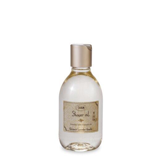 Shower Oil PET Patchouli Lavender Vanilla