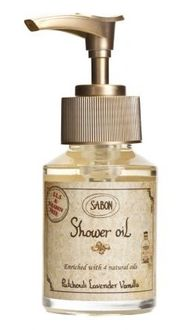 Mini Shower Oil Patchouli Lavender Vanilla